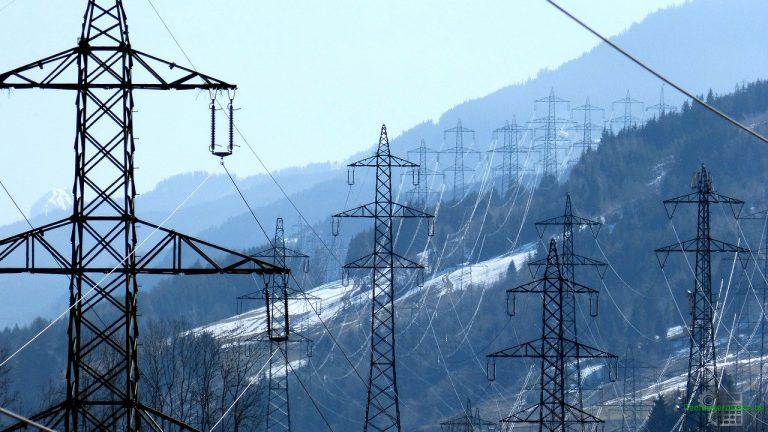 Stromtrasse als Teil des europäischen Stromnetzes