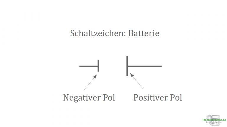 Spannungsquellen - Schaltzeichen - Batterie