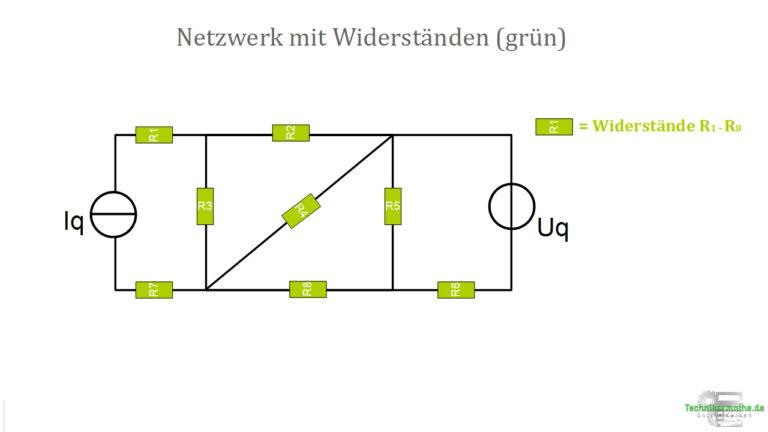 Netzwerk mit 8 Widerständen