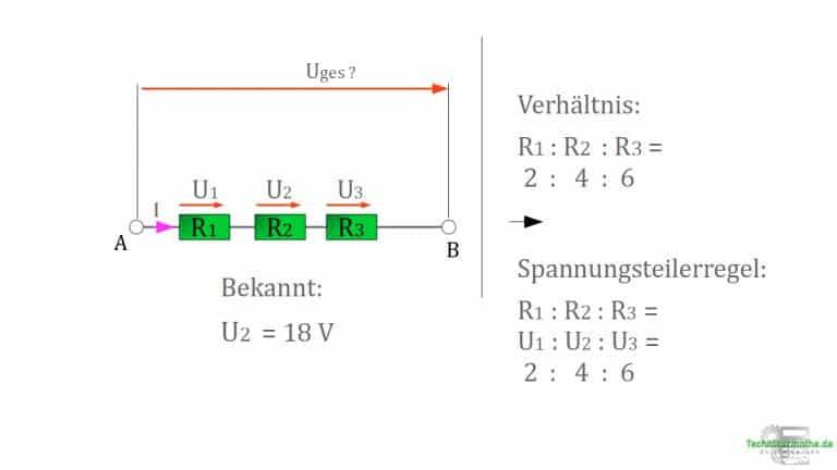 Spannungsteilerregel - Beispiel