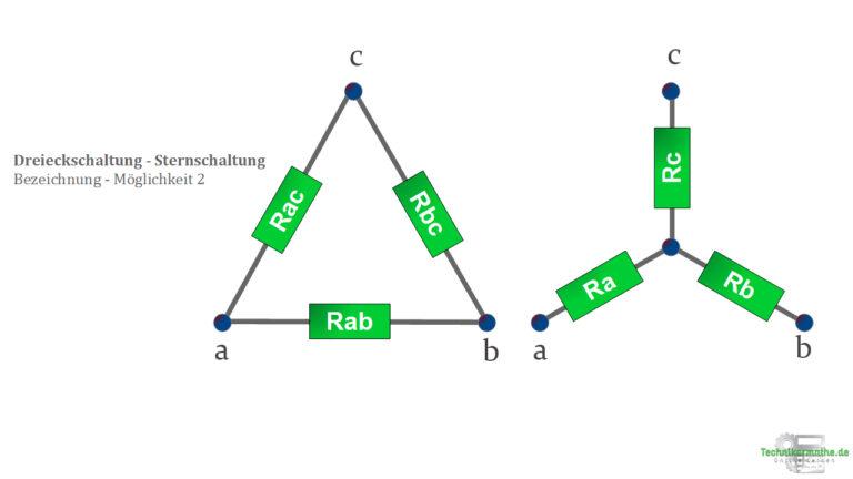 Sternschaltung , Dreieckschaltung - Bezeichnung 2