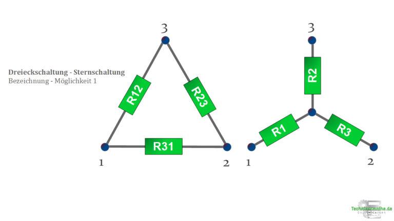 Sternschaltung , Dreieckschaltung - Bezeichnung 1