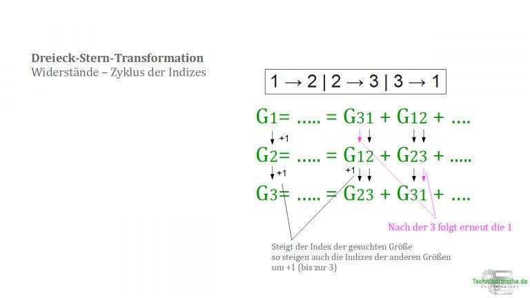 Dreieck-Stern-Transformation - Zyklus