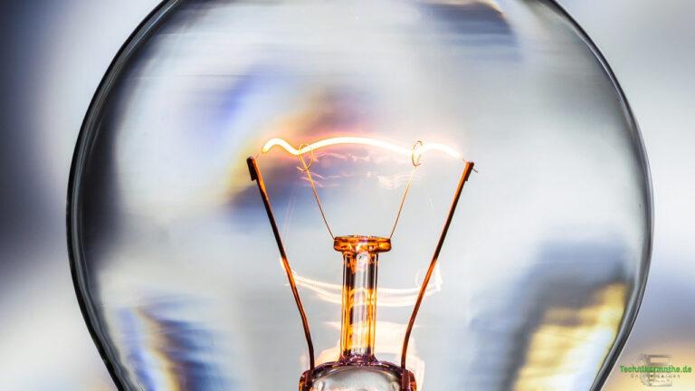 Spannungsquellen - Wolframdraht einer Glühbirne
