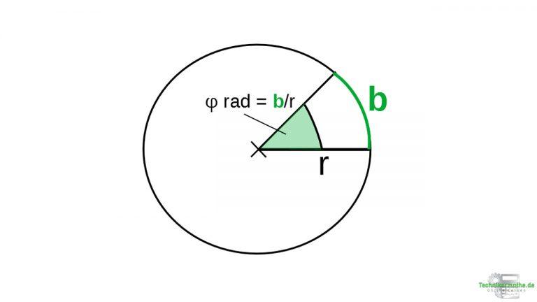 Gleichförmige Kreisbewegung: Bogenmaß
