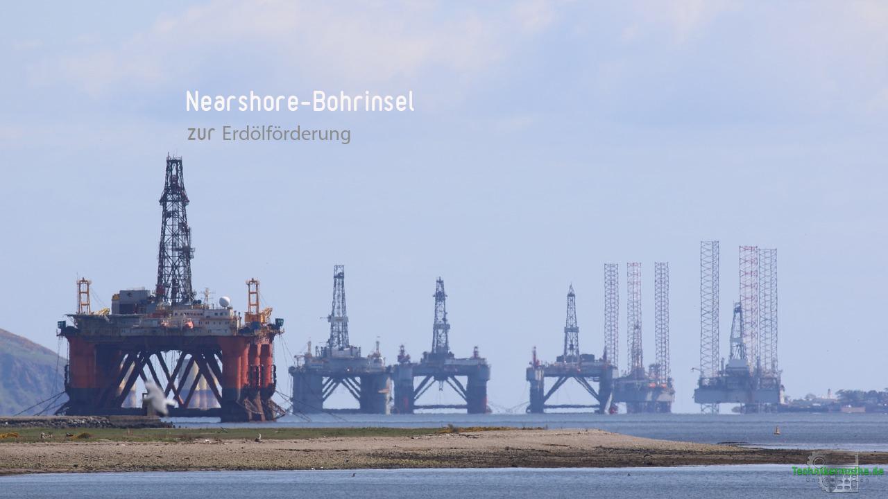 Ölwirtschaft - Nearshore-Bohrinsel