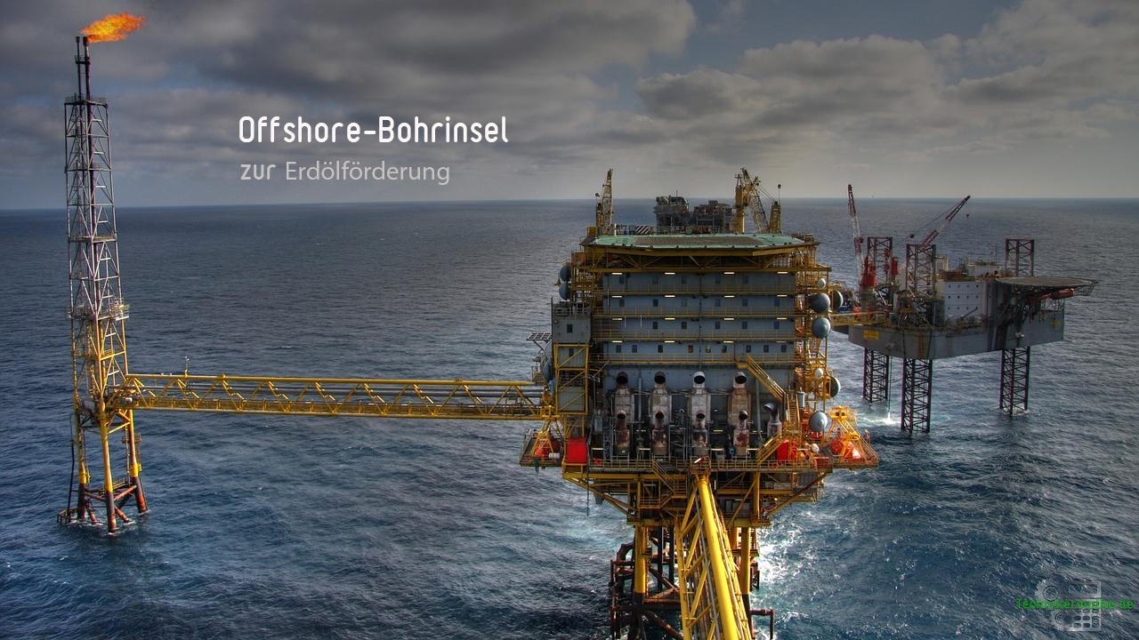 Ölwirtschaft - Bohrinsel