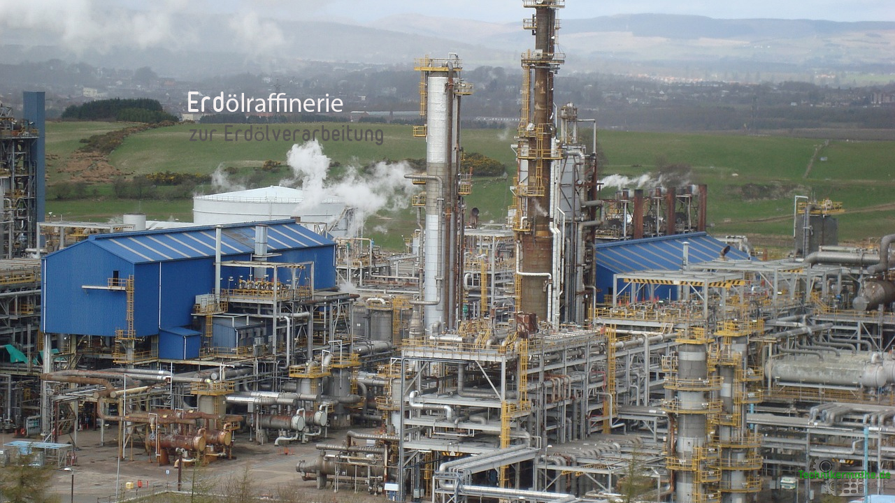 Erdölraffinerien und Produkte