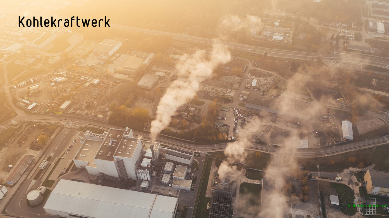 Steinkohlekraftwerk aus der Luft