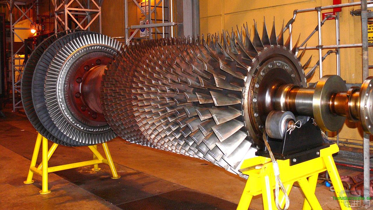Ausgebaute Dampfturbine