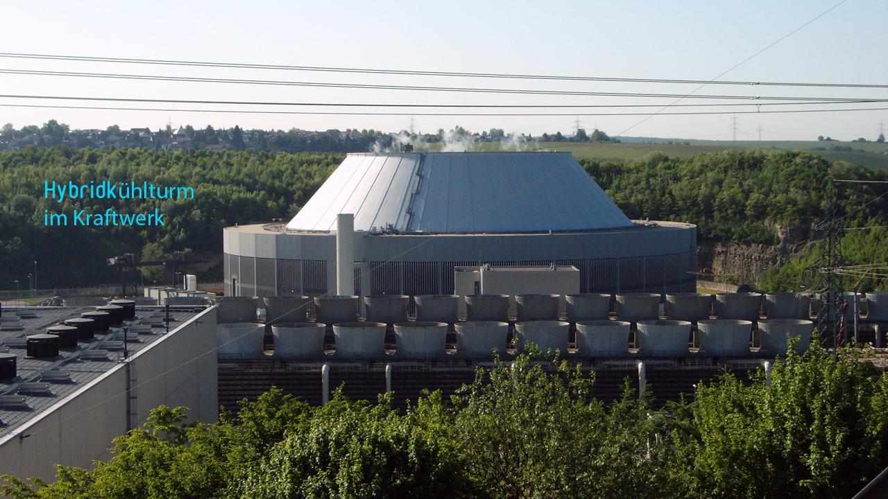 Hybridkühlturm, Außenansicht - Kraftwerkskühlung