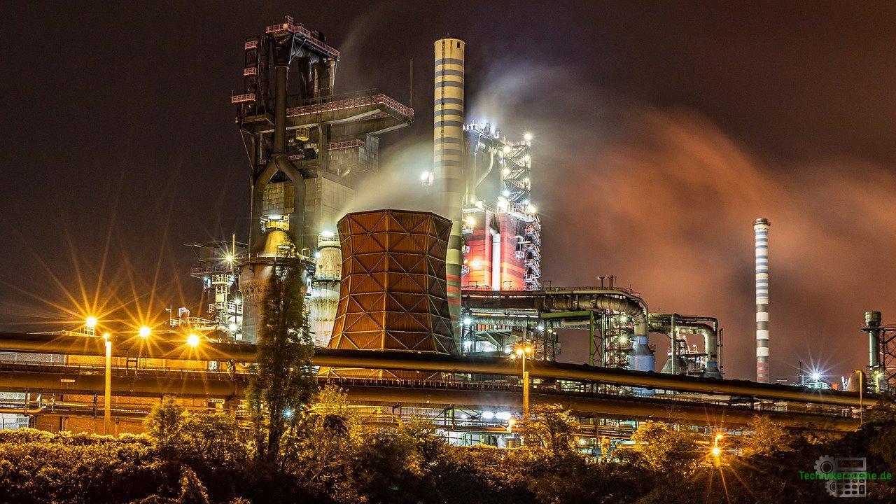 Industrielle Kraftwirtschaft im Nachtbetrieb