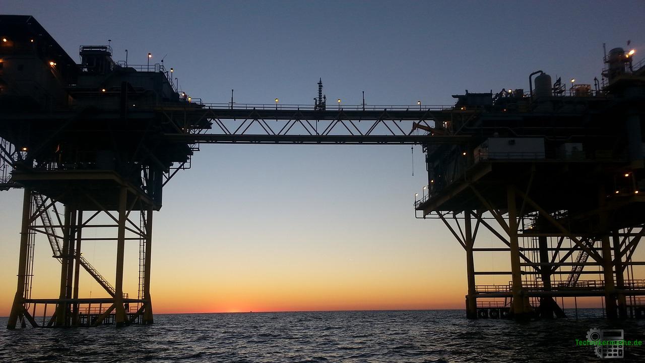 Gaswirtschaft - Bohrinsel