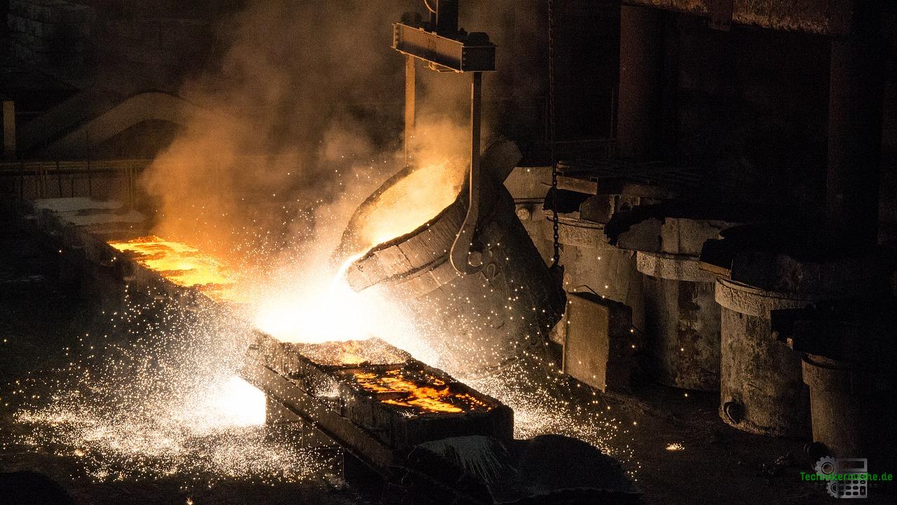 Erzeugung von Stahl - Nebenprodukt Gas