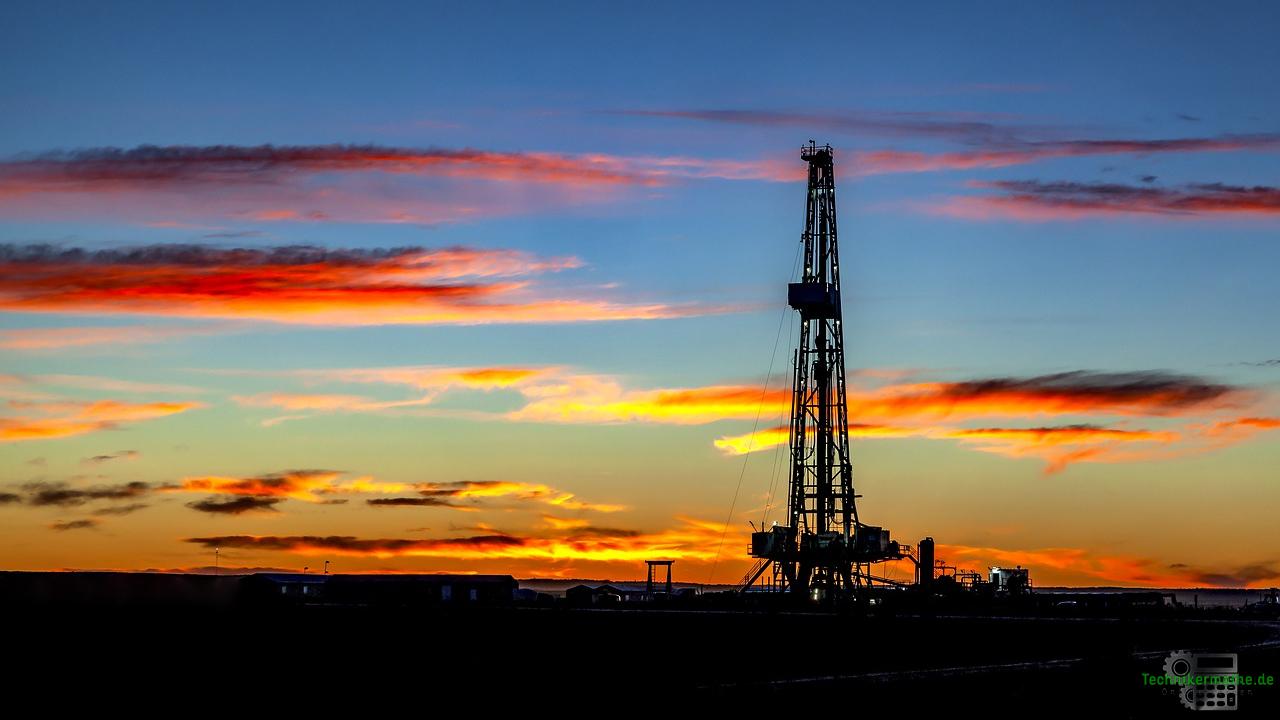 Naturgasbilanz - Bohrturm