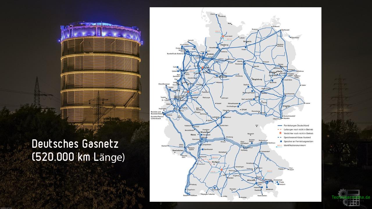 Gasnetz in Deutschland - Übersicht