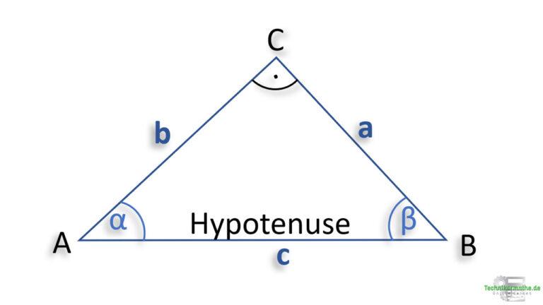 rechtwinklige dreiecke, hypotenuse