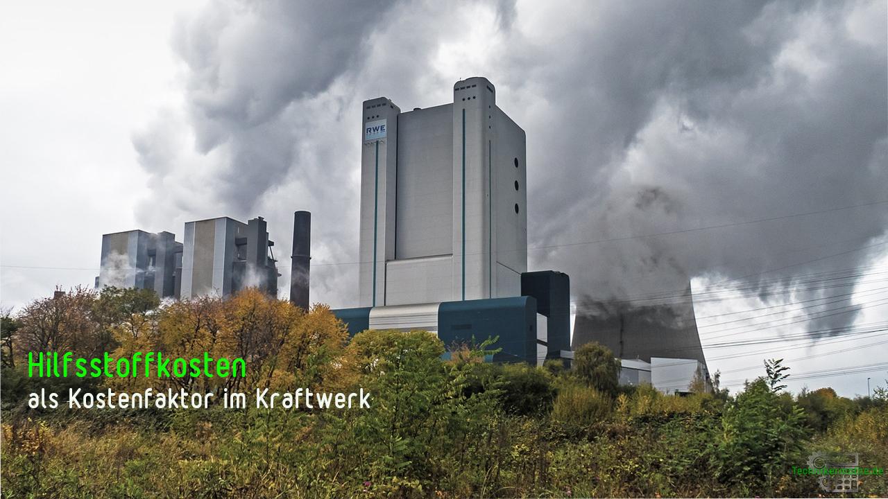 Hilfsstoffkosten im Kraftwerk
