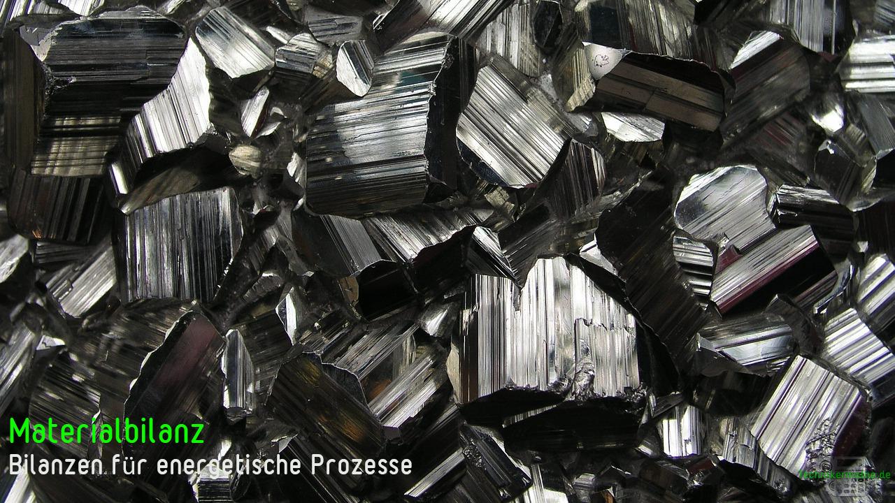 Materialbilanz - Pyrit