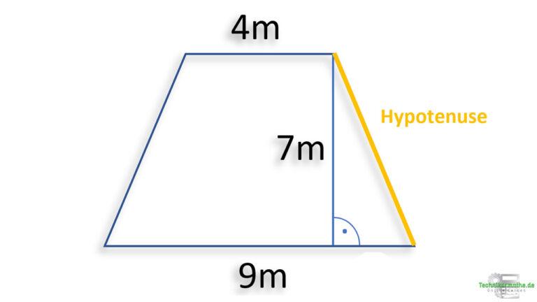Satz des Pythagoras, gleichschenkliges Trapez