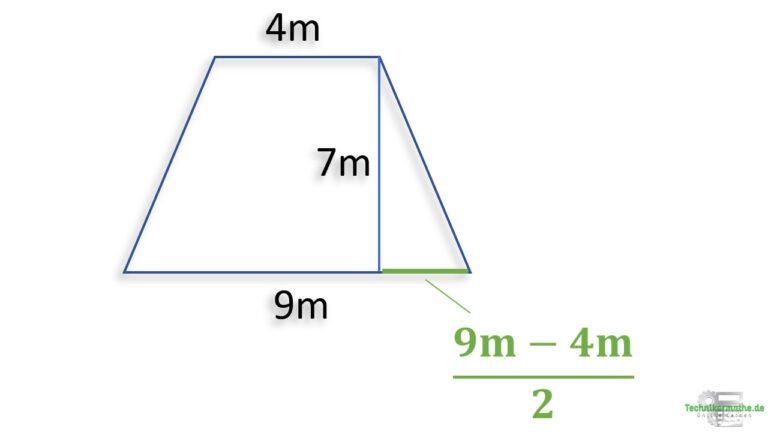Schenkel berechnen, Trapez