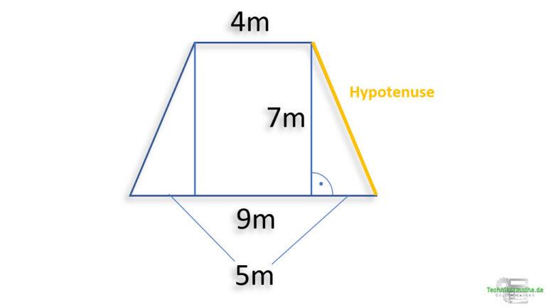 Schenkel eines Trapezes berechnen