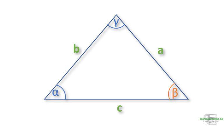 Winkel in einem allgemeinen Dreieck berechnen - Aufgaben zum Kosinussatz