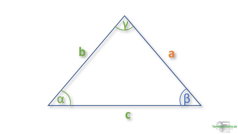 Seite in einem allgemeinen Dreieck berechnen