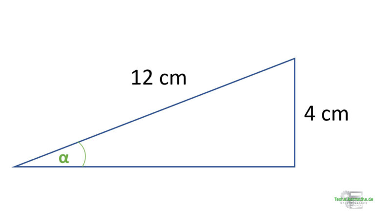 Winkel berechnen - Sinus bei rechtwinkligen Dreiecken