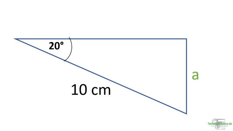Gegenkathete berechnen, Sinus bei rechtwinkligen Dreiecken