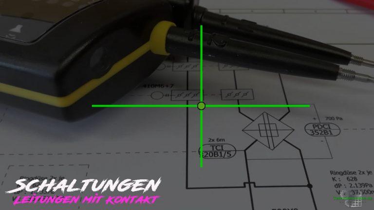 Schaltungen - Schaltzeichen - Leitungen mit Kontakt