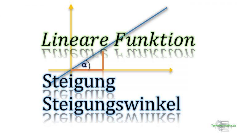 Steigung linearer Funktionen