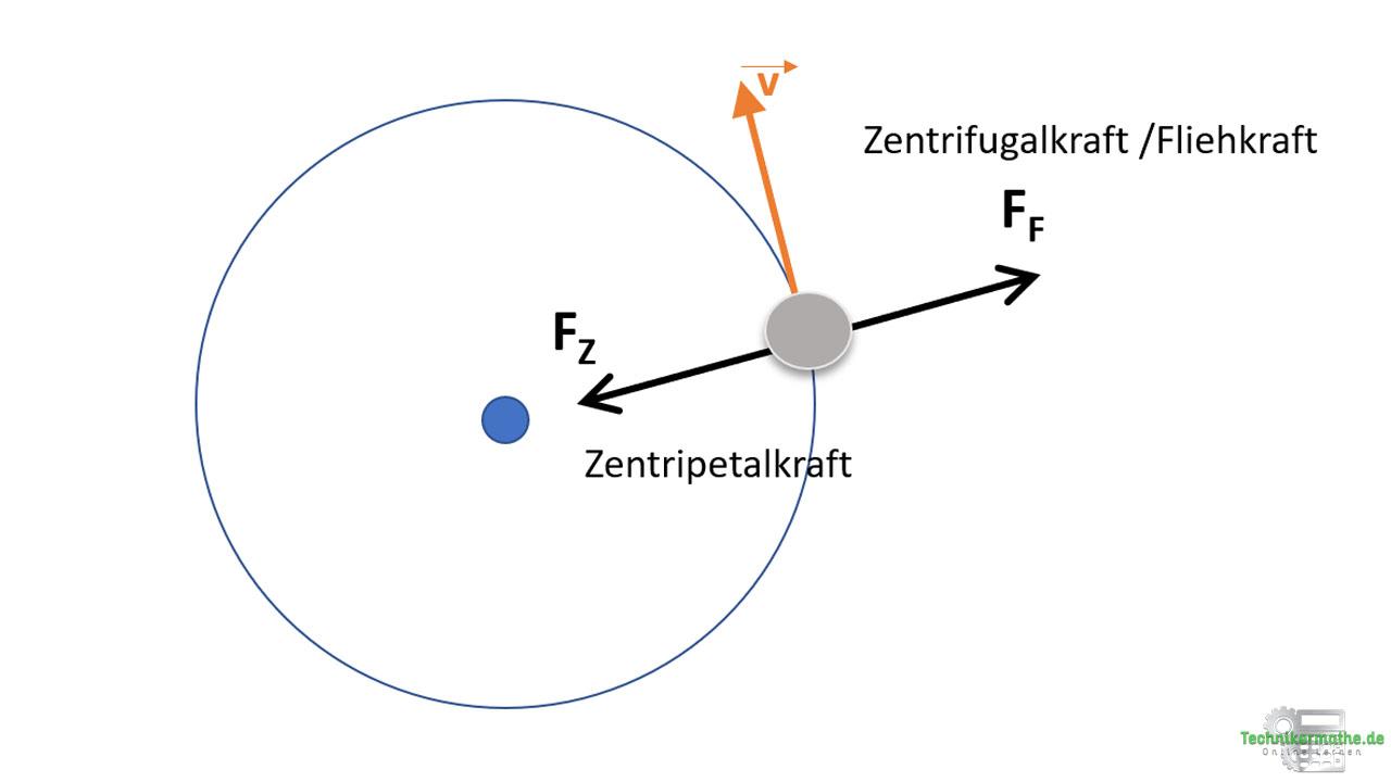 Zentripetalkraft und Zentrifugalkraft