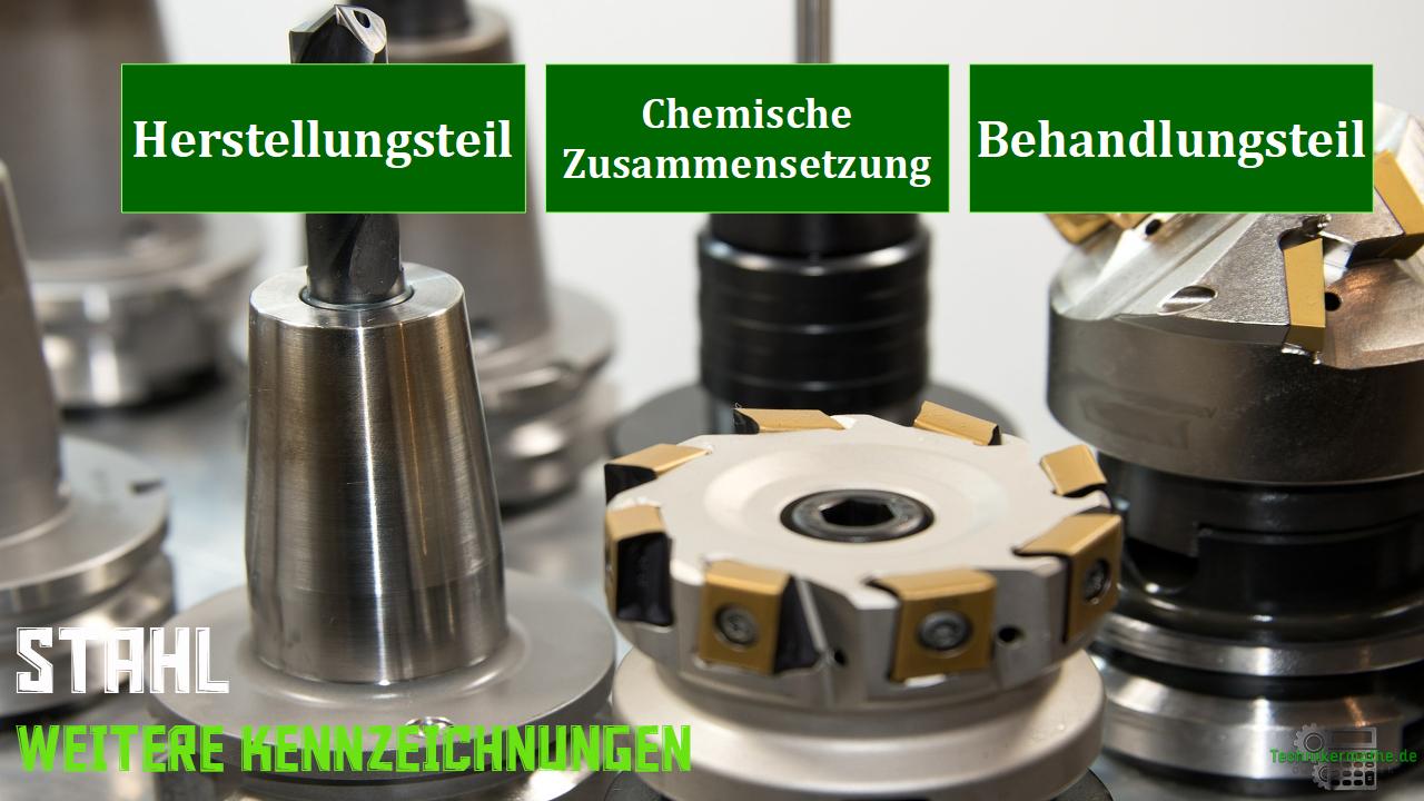 Stahlkennzeichnung - Herstellungsteil, Behandlungsteil