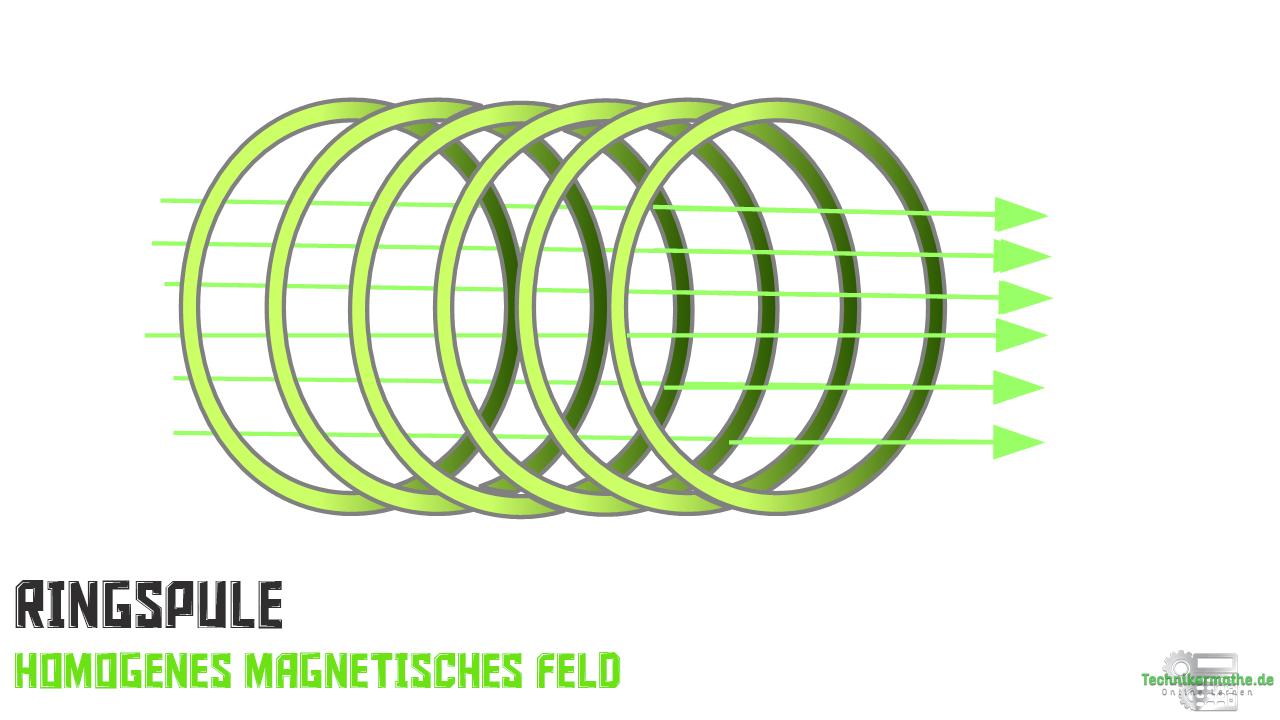 Ringspule - homogenes Magnetfeld