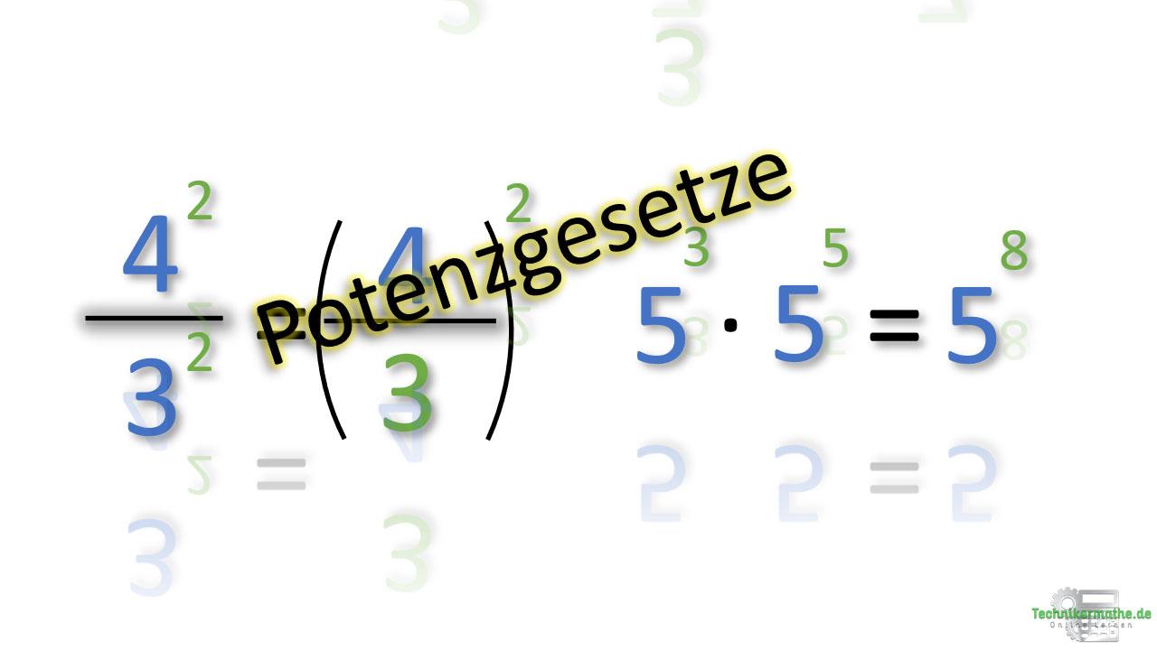 Potenzgesetze, onlinekurs, beispiel, Mathe