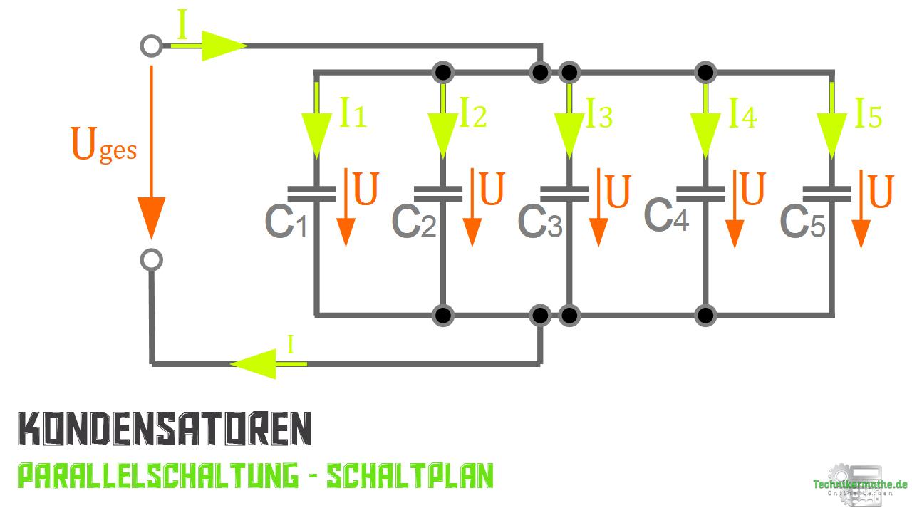 Kondensatoren parallel geschaltet