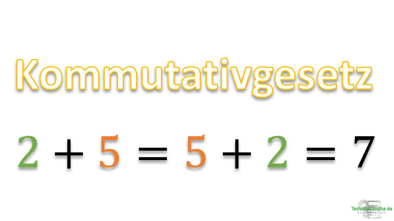 Kommutativgesetz, Rechenregeln