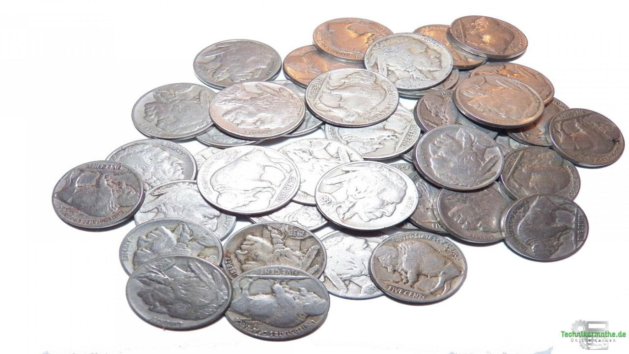 Restmagnetismus - Nickelhaltige Münzen