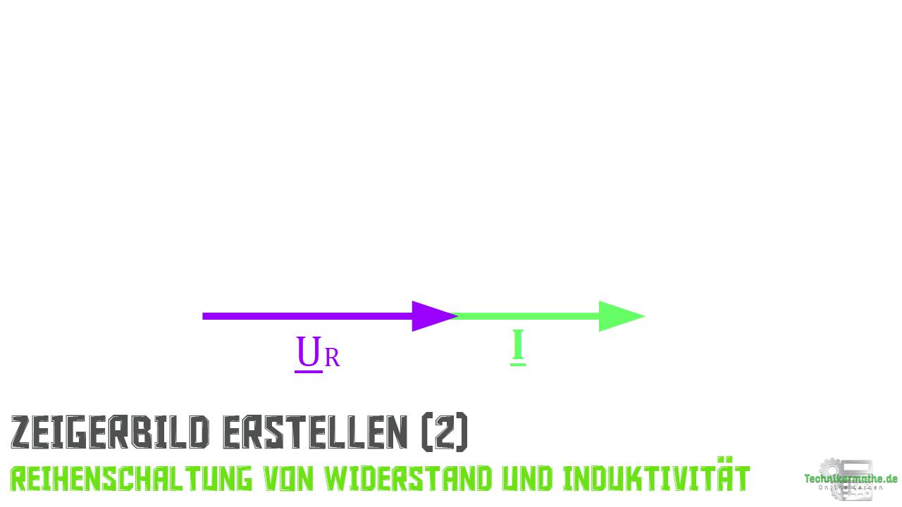 Reihenschaltung von R und L - Spannungszeiger (Widerstand)