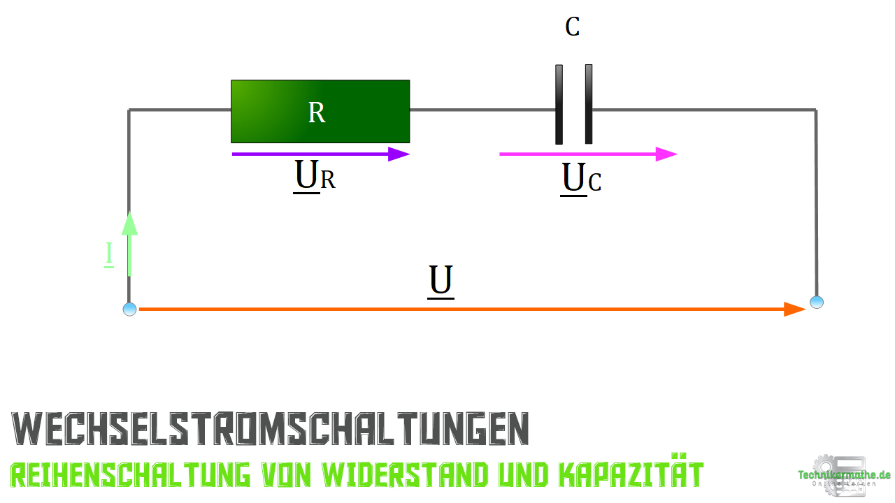 Reihenschaltung von R und C - Schaltplan