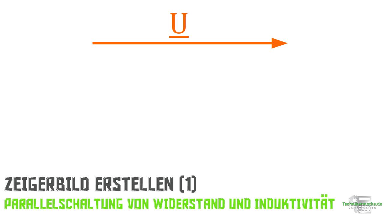 Parallelschaltung von R und L - Spannungszeiger