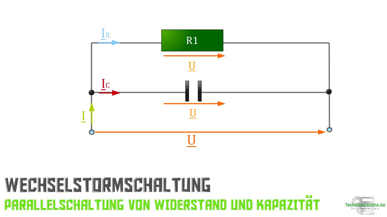 Parallelschaltung von R und C - Spannungszeiger