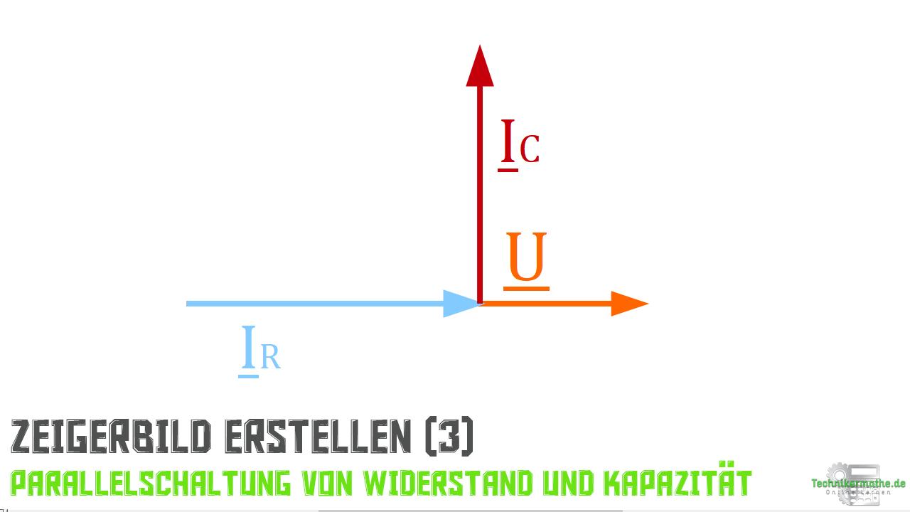 Parallelschaltung von R und C - Stromzeiger (Kapazität)