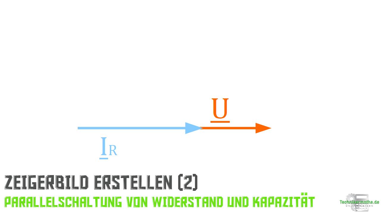 Parallelschaltung von R und C - Stromzeiger (Widerstand)