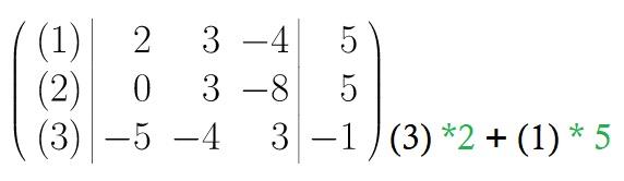 Zeilenumformungen, Gauß Algorithmus