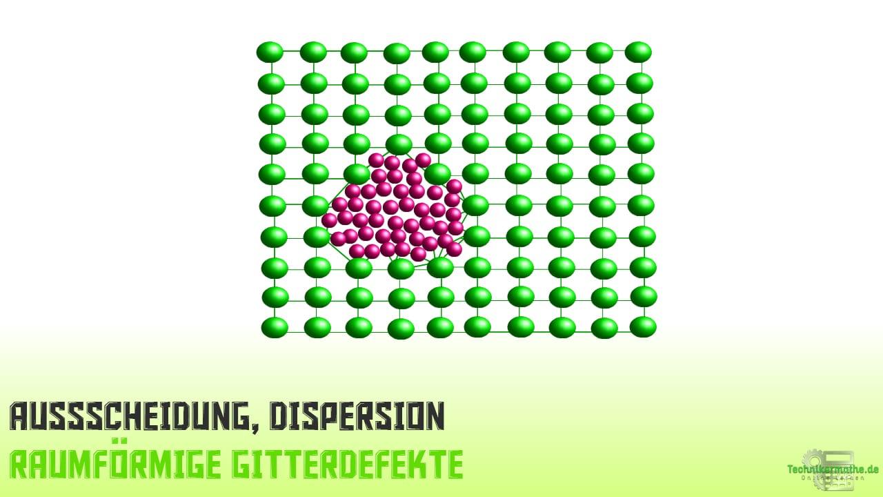 Raumförmige Gitterdefekte - Ausscheidung, Dispersion