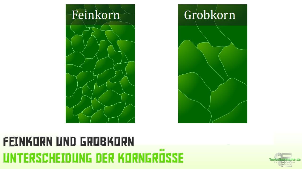 Grobkorn, Feinkorn - Unterscheidung der Korngröße
