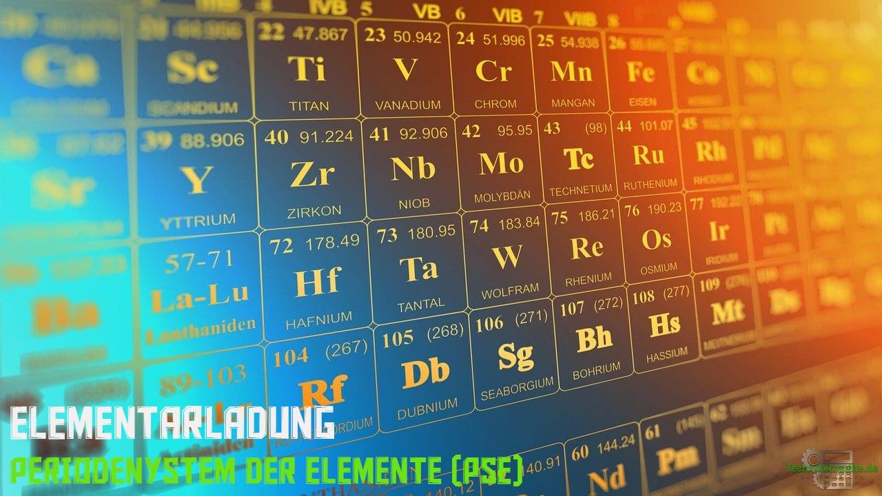 Periodensystem der Elemente - Elementarladung