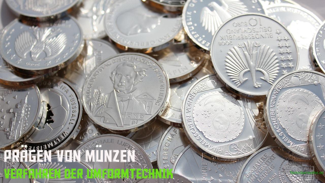 Prägen von Münzen